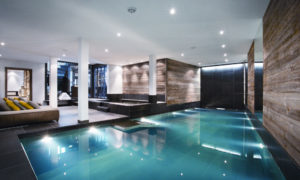 Indoor swimming pool at The Lodge Verbier