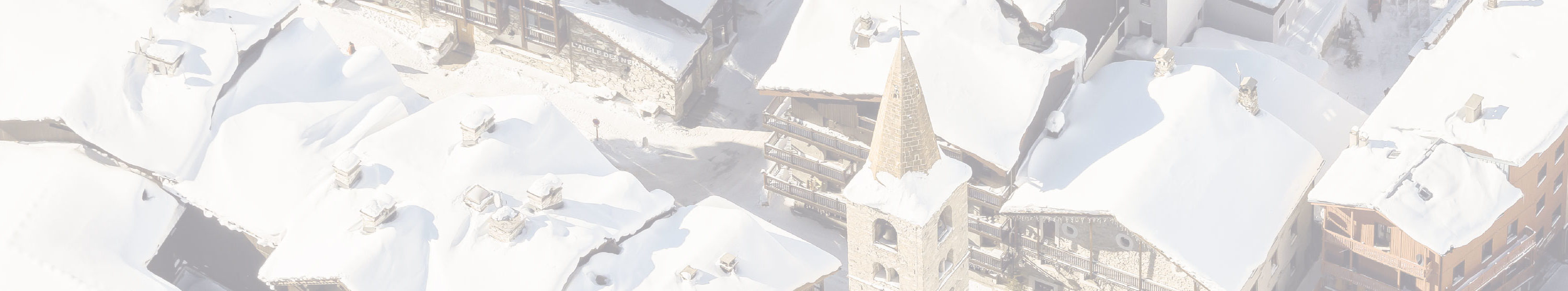 Luxury Ski Chalets in Val d'Isère from above