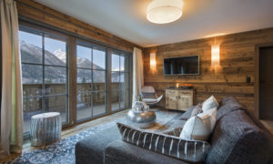 Chalet Ariane Living Room in Chalet Eden Rock, St Anton