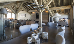 Dining room at Chalet La Colombe, Courchevel 1850