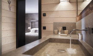 Chalet Colombe Ensuite bathroom