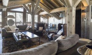 La Colombe Living Room - Chalet Interior Details