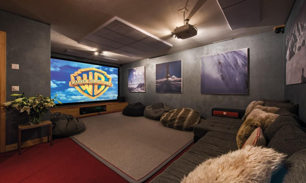 Cinema Room at Chalet Rock