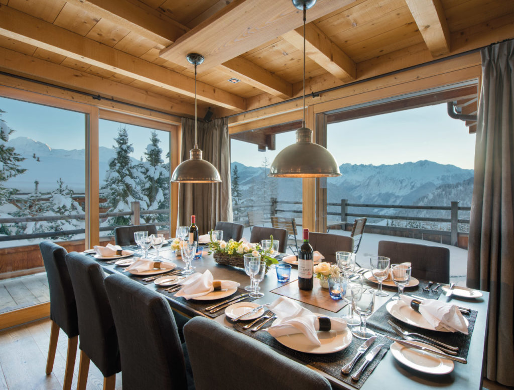 Dining Table - Catered Ski Chalet in Verbier