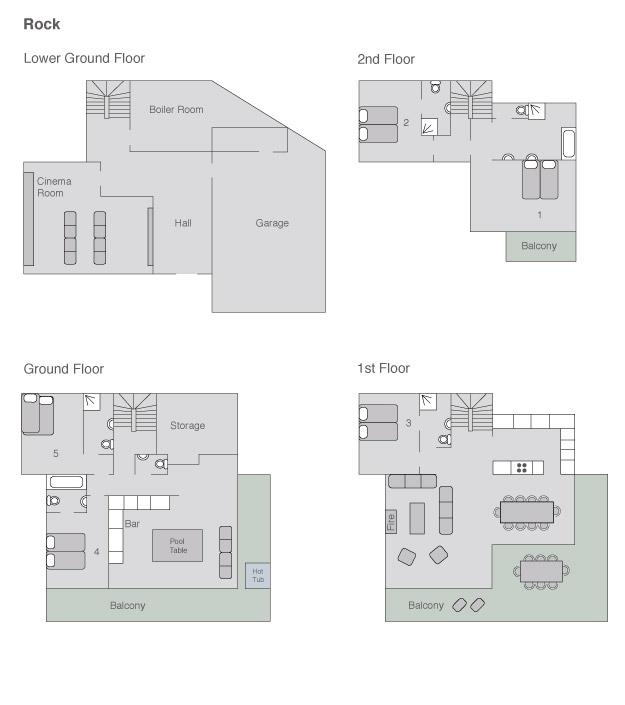 Chalet Rock Floor Plans
