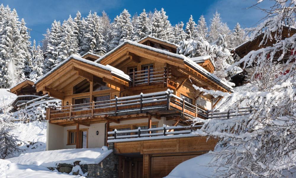 Chalet Rock Exterior - Luxury Ski Chalet in Verbier