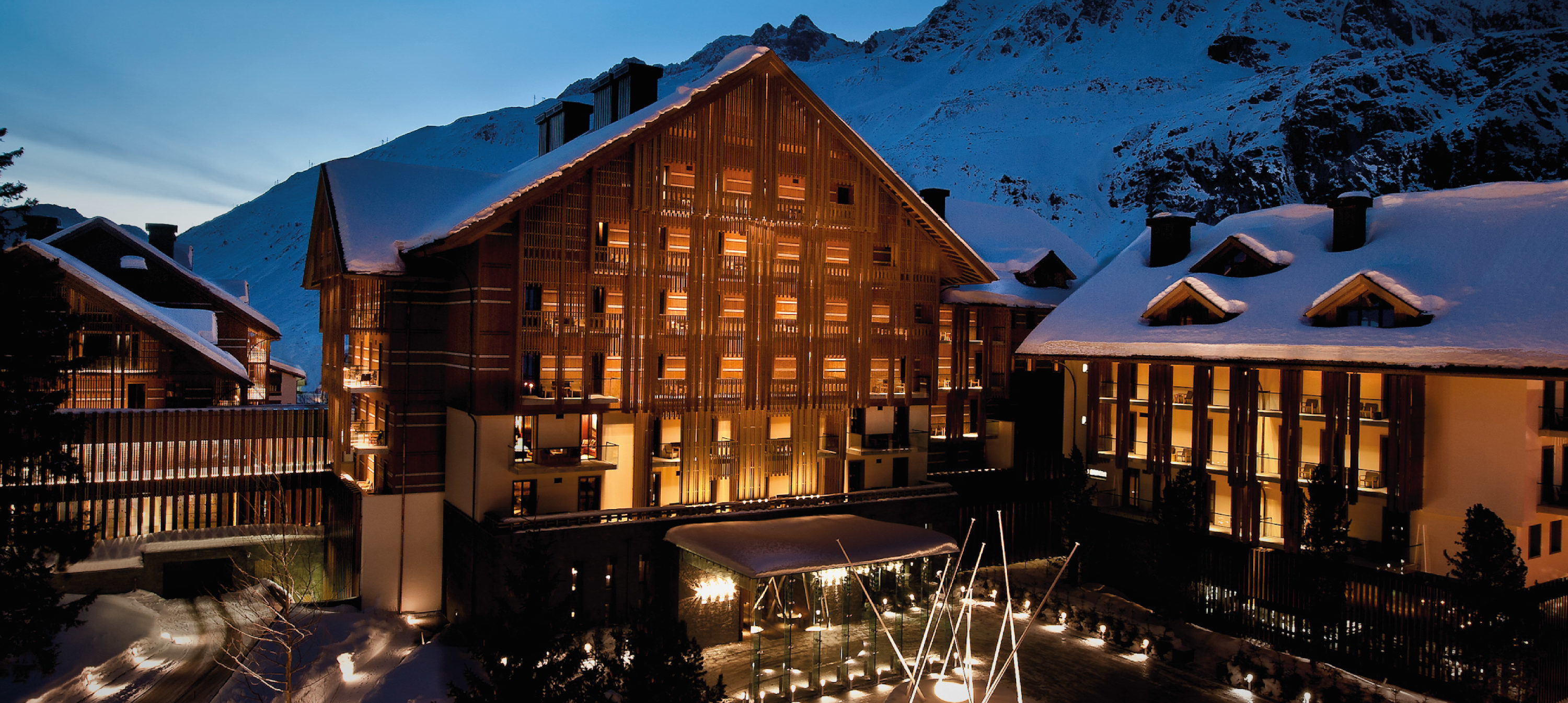 Chedi Andermatt Exterior in the snow