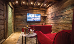 Chalet Montana private cinema room