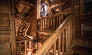 Savoyard chalet wooden staircase - Courchevel 1850