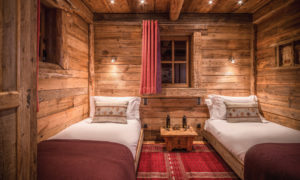 Twin Bedroom in Chalet Montana in Courchevel 1850