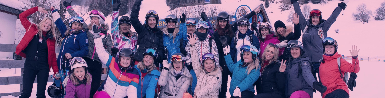 women only group ski trip 2020