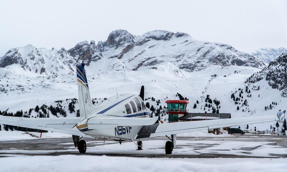 a luxury weekend break complete with a flight around Courchevel