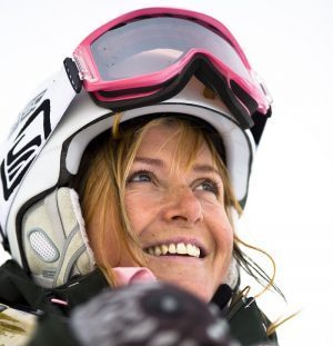 Q + A with our women who ski trip ski host Geli