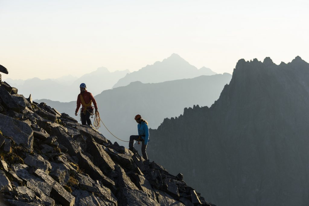 Summer activity of hiking
