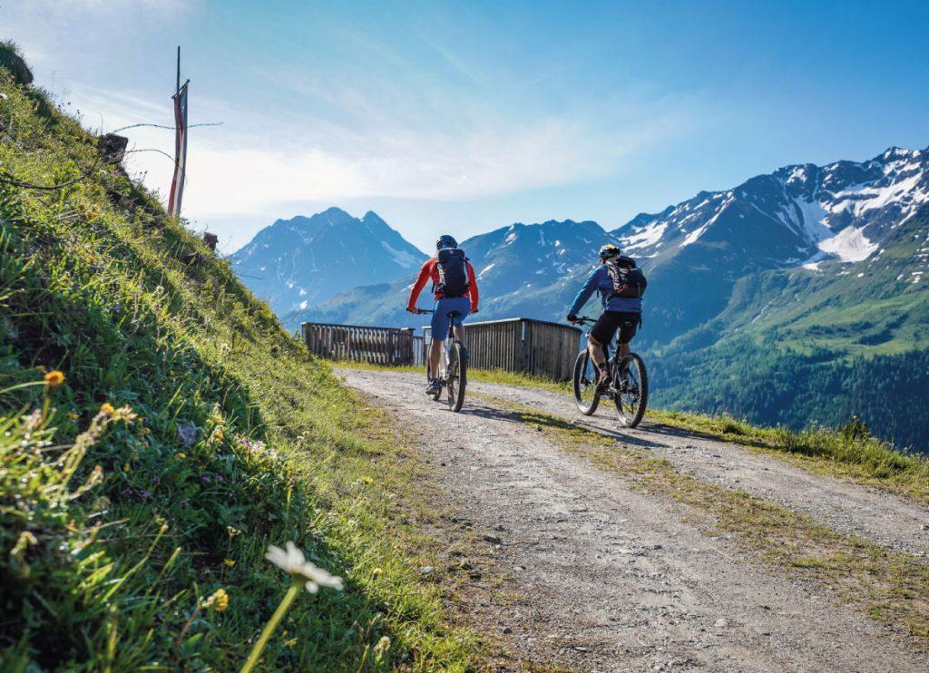 Mountain biking - summer in the alps