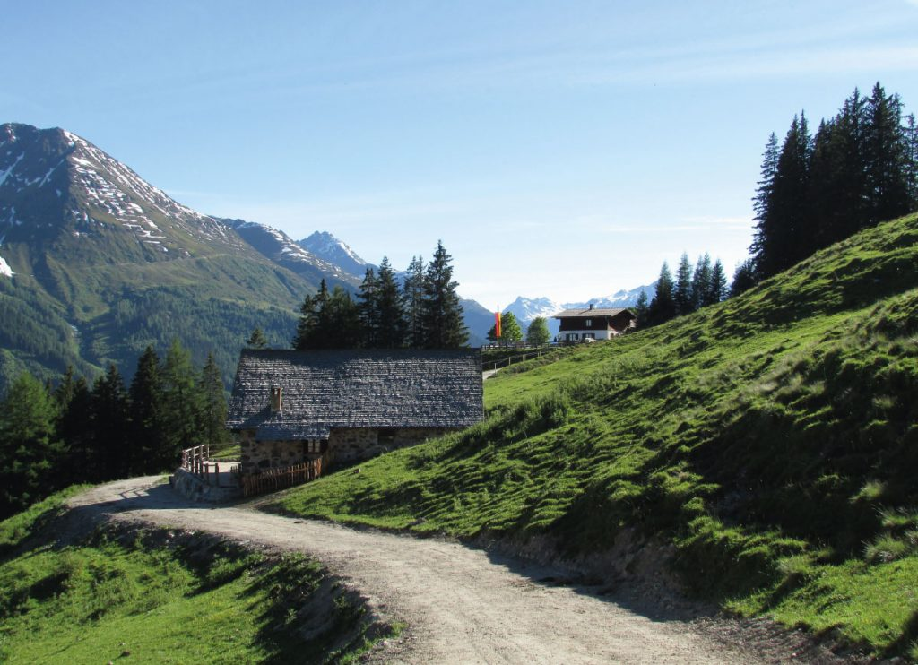 Walking trails in St Anton in the summer