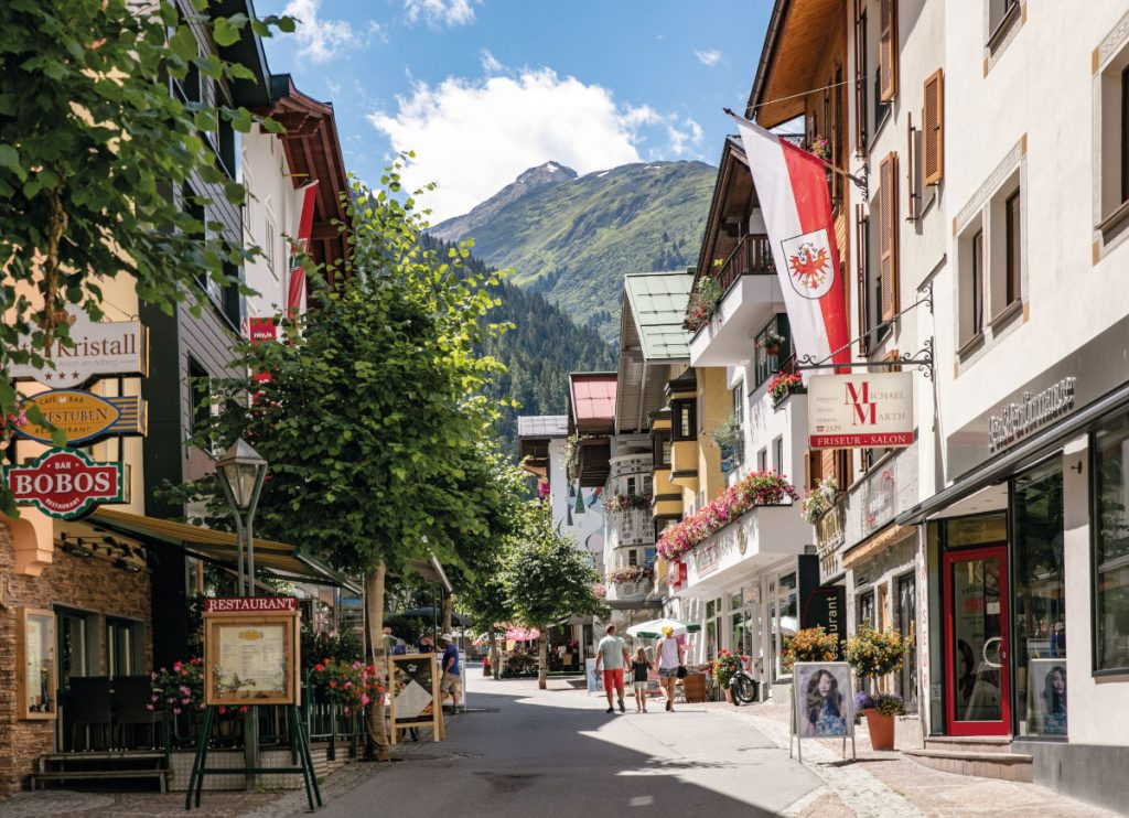 St Anton main street in the summer